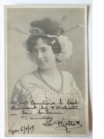 CPA - LA RIETTE - Hand Signed, Dédicace, Signé - Autographe Authentique- - Artistes