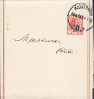 Denmark Postal Stationery Ganzsache Wrapper Streifband Bande Journaux (31-K) KJØBENHAVN B. 1920 (2 Scans) - Enteros Postales