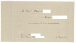 FRA110 PARTECIPAZIONE DI MATRIMONIO DEL 20 MAGGIO 1944 BUONE CONDIZIONI  FORMATO A LIBRETTO CHIUSO CM 17x11,5 - Annunci Di Nozze