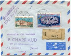 COTE FRANCAISE DES SOMALIS LETTRE RECOMMANDEE PAR AVION DEPART DJIBOUTI  7-2-1970 POUR LA FRANCE - Côte Française Des Somalis (1894-1967)