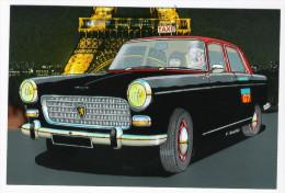 CPM - ILLUSTRATEUR - Pierre GAUTHIE - AUTOMOBILE - TAXI G7 - PEUGEOT 404 TAXI PARISIEN 1960 - Non Classés