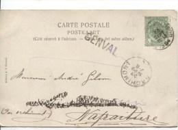 TP 56 S/CP De Genval-Les-Eaux C.Quartier Léopold En 1904 + Griffe Genval V.Nafraiture C.d'arrivée Orchimont PR2282 - Postmark Collection