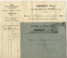63 - THIERS  - Scierie Et Raboterie    -  Bois -  GENEST FILS  - 1933 - Francia
