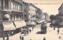 BEZIERS 34 - Place République Et Allées P. Riquet : Agence Banque STE MARSEILLAISE DE CREDIT ( SMC S.M.C. ) CPA Hérault - Beziers