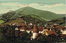14245. Postal RIBEAUVILLÉ  (haut Rhin) Alsace. Les Trois Chateaux - Ribeauvillé