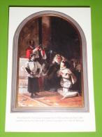 S.LUIGI GONZAGA Riceve Eucarestia S.CARLO BORROMEO (quadro Mosè Bianchi/Chiesa S.Maria Nascente MONZA ) Santino Cm15x10 - Santini