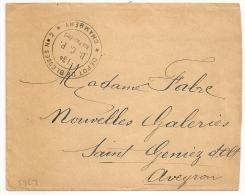 Griffe Dépot De Blessés N°2, 13° B.C.P. Rue Paul Bert, CHAMBERY Savoie Sur Enveloppe En FM. - Marcophilie (Lettres)