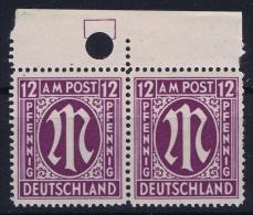 Bizone  Bogenrandstuck Mit Passerloch Mi Nr 15 MNH/**/postfrisch - Bizone