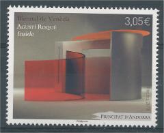 Andorra (French Adm.), Venice Biennale, Agusti Roqué, 2015, MNH VF - French Andorra