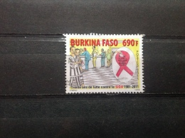 Burkina Faso - Gevecht Tegen AIDS (690) 2011 Very Rare! High Value!! - Burkina Faso (1984-...)