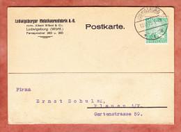 Karte, Rheinland, Ludwigsburg Nach Plauen 1925 (78971) - Deutschland