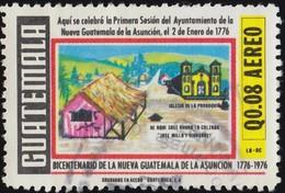 GUATEMALA - Scott #C623 Nueva Guatemala De La Asuncion, Guatemala City, 200th Anniv. (*) / Used Stamp - Guatemala