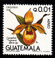 GUATEMALA - Scott #C654 Orchids, Cypripedium Irapeanum / Mint NH Stamp - Orchids