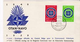FDC 1959 Bruxelles 10e Anniversaire De L´OTAN NATO