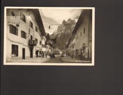 Deutschland Mittenwald Untere Marktstr. Mit Viererspitze Gelaufen 1936 - Mittenwald