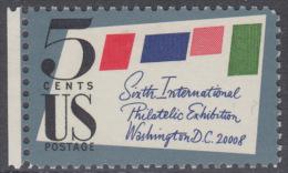 !a! USA Sc# 1310 MNH SINGLE W/ Left Margin - 6th Intern.Phil.Exhibition - Etats-Unis