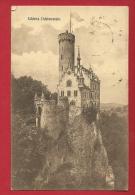 EZC-20  Schloss Lichtenstein. Stempel Honau - Liechtenstein