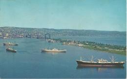CPA-1960-USA-MINNESOTA-LAC SUPERIEUR-DULUTH-VUE AERIENNE-LAC-CARGOS -TBE- - Duluth