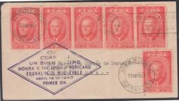1947-FDC-18 CUBA. REPUBLICA.1947. Ed.390. FDC PRESIDENT ROOSEVELT - FDC
