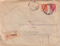 PARIS - 13 R DES CAPUCINES - RECOMMANDE DU 31-3-1942 - COLLECTION AU TYPE PETAIN - Postmark Collection (Covers)