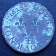 DOUBLE TOURNOIS DE LOUIS XIII 1628 A PARIS 8/6 ?? - 1610-1643 Lodewijk XIII Van Frankrijk (De Rechtvaardige)
