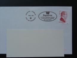 15/05/2015 Bapteme Prince Jacques Et Princesse Gabriella Flamme Monaco Sur Lettre Postmark On Cover - Poststempel