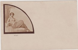 Nu Nue érotisme REINE Carte D'avant 1905 - Dessins