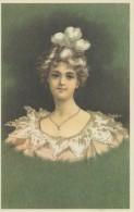 Illustration: JOLIE JEUNE FEMME - Art Nouveau - Repro D'une Carte Ancienne. - Femmes