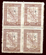 PARAGUAY Sc # 267 Block Of 4 Printed On The Back VF - Paraguay
