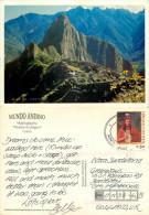 Machu Picchu, Peru postcard posted 2001 stamp