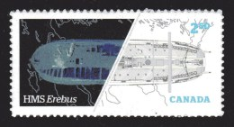 CANADA 2015,  # 2856, FRANKLIN EXPEDITION In ARTIC In 1840´s, HMS ERABUS, BOAT, MAP GEOGRAPHY, 1 Of International Rate - Carnets