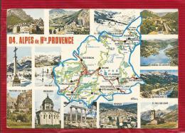 France - Les ALPES De HAUTE PROVENCE  -  04 - Carte Géographique - Maps