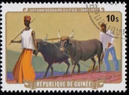 Guinea - Scott #739 Guinean Democratic Party, 30th Anniv. (*) / Used Stamp - Guinea (1958-...)