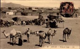 ASSUAN..BISHARIN CAMP..CPA ANIMEE - Assouan