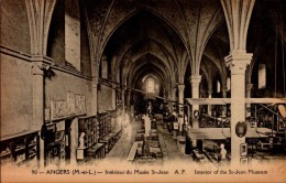49-ANGERS..INTERIEUR DU MUSEE ST-JEAN ..CPA - Angers