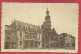 Binche - Le Théâtre Communal Et L'Hôtel De Ville - 1947 ( Voir Verso ) - Binche