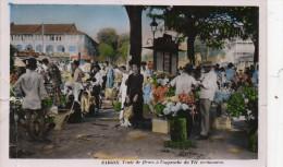 CP SAIGON. Vente De Fleurs A L'approche Du Têt Vietnamien. 1953.  Abimée - Vietnam