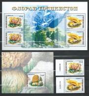 Tajikistan 1999 Mih. 163/64 + Bl.17 + 165 (Bl.18) Mushrooms MNH ** - Tadjikistan