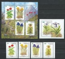 Tajikistan 1998.Flowers Of Tajikistan, 4v + 2 S/s, Mint/** - Tadjikistan