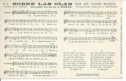 SOBRE LAS OLAS - Paroles De F. LEMON - Musique De G. GOUBLIER ( PARTITION - CHANSON ) - Spectacle