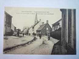 WESTVLETEREN  :  Route De  POPERINGHE  Et  Eglise   1915    XXX - Vleteren