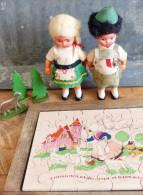 Ancien Puzzle En Bois - Toy Memorabilia