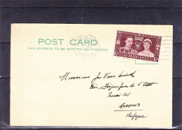Grande Bretagne - Carte Postale De 1937 - FDC Oblitération 1er Jour - Edgware - Valeur 30 Euros - 1902-1951 (Kings)