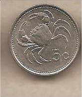 Malta - Moneta Circolata Da 5 Centesimi - 1986 - Malta