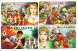 SAN MARINO I TRE MOSCHETTIERI-VIA COL VENTO-DE CAMERONE-TIGRI DI MOMPRACEM 2000+3000+5000+10000 Lire Nuove Cod.sched 014 - San Marino