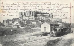 Grignan (Drôme) - Vue Du Midi - Le Tramway En Gare - Edition Revoul - Grignan