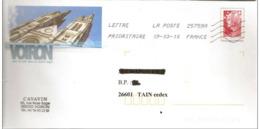 """Lettre PAP  De  """"  Voiron  ( 38 )    """"  Du 19 - 03 - 2010   Sur Facsimilé   N° 4230  Ou  4413 - PAP : Bijwerking /Beaujard"""