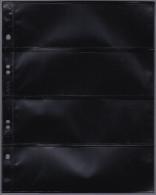 AASA-Hüllen 1/4 PP-Folie PVC Frei Packet A 10 St. Schwarz 4 Streifen - Albums & Reliures