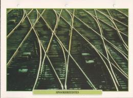 Trein.- Treinen - Locomotief. Spoorbreedtes. Rails. 2 Scans. - Spoorweg