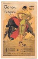 ESPAGNE - TOROS PAMPLONA - 7 Au 10 Julio 1935 - Programme Général - Illustrateur RUANO LOPIS - Corridas - Non Classés